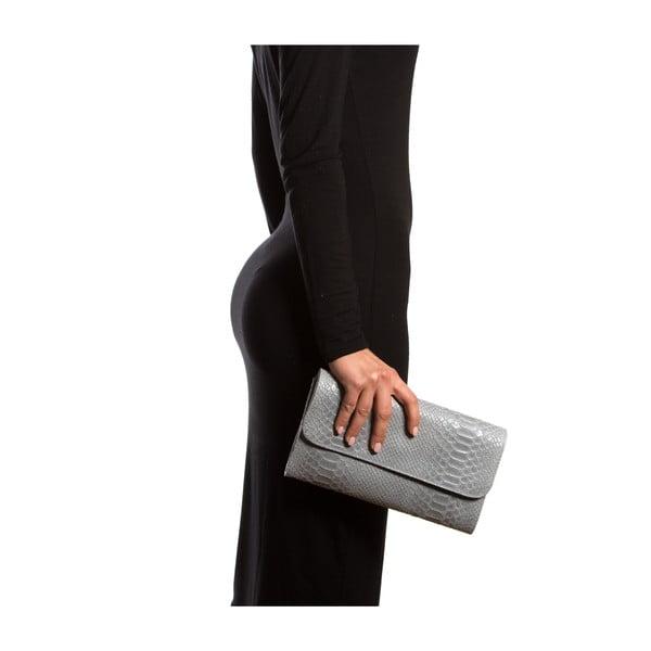 Kožená listová kabelka Isabella Rhea 8018, sivá