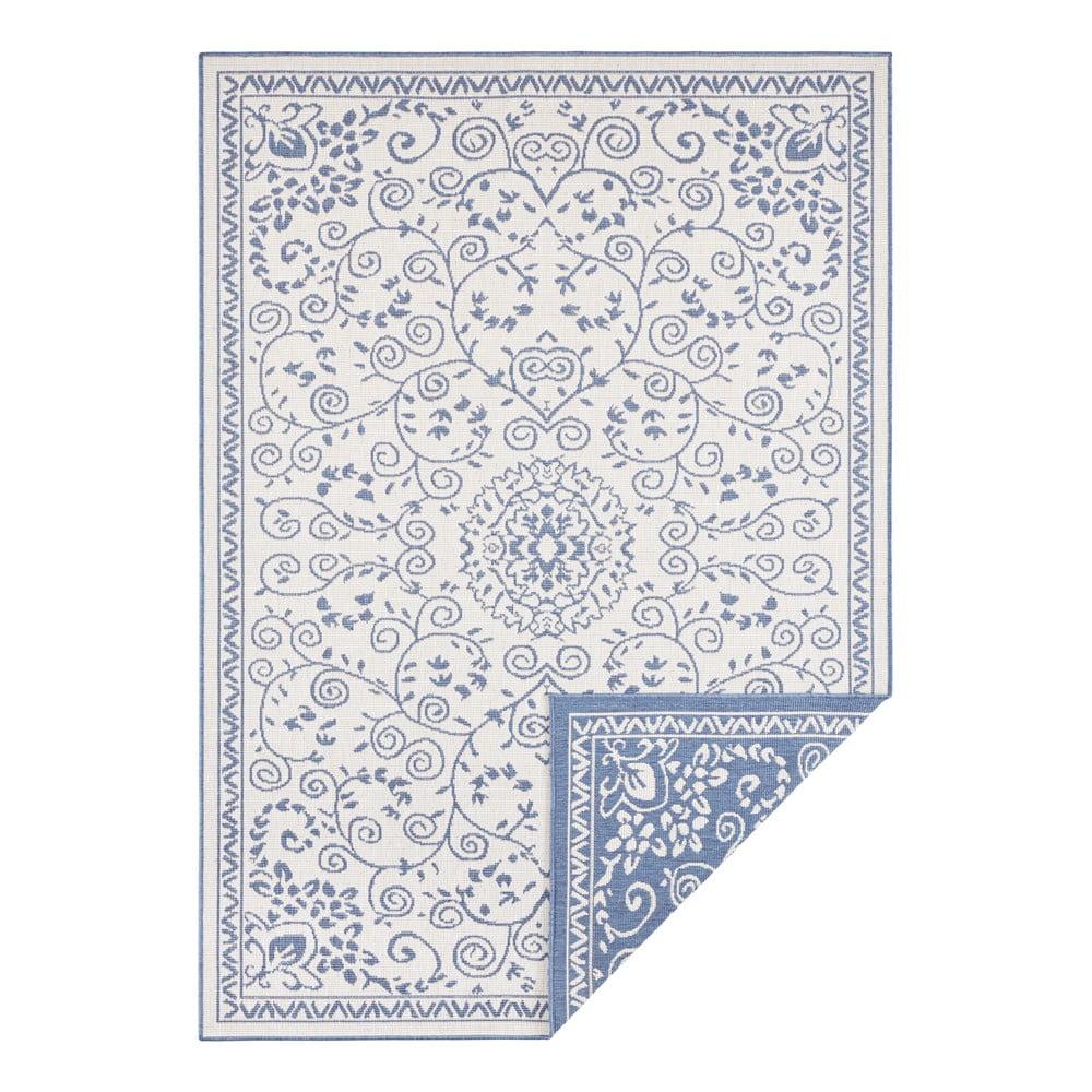 Modro-krémový vonkajší koberec Bougari Leyte, 120 x 170 cm