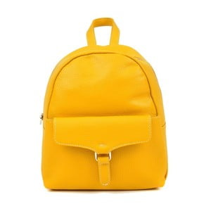 Žltý kožený batoh Isabella Rhea Mille
