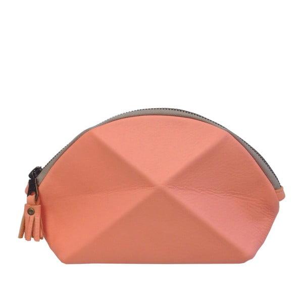 Listová kabelka/kozmetická taška Pyramid, koralová