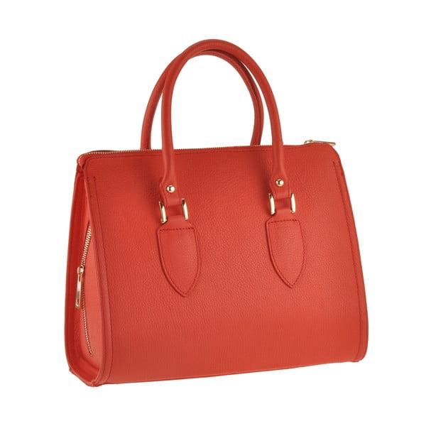 Kožená kabelka Grafias, červená