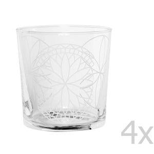 Sada 4 pohárov Rosace, 370 ml