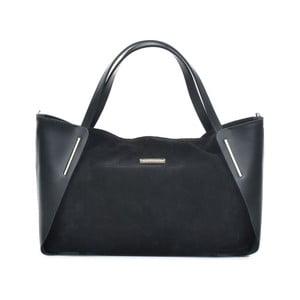 Čierna kožená kabelka Mangotti Bags Elvira
