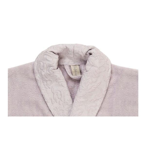 Svetlofialový set županu, uteráka a osušky zo 100% bavlny Crespo, veľ. M / L