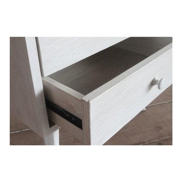 Nočný stolík Rustic White