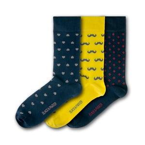 Sada 3 ponožiek Black&Parker London Probus Gardens, veľkosť 37 – 43