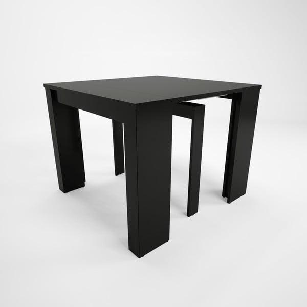 Čierny drevený rozkladací jedálenský stôl Artemob Grace