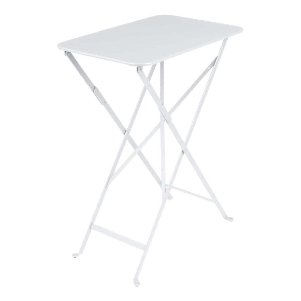 Biely záhradný stolík Fermob Bistro, 37 × 57 cm