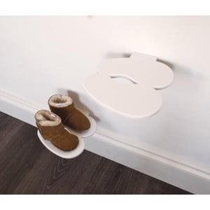 Polica na detské topánky J-ME Footprint, biela