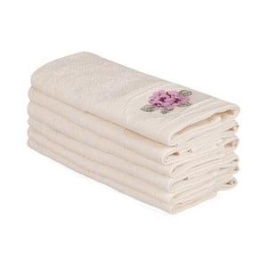 Sada 6 béžových bavlnených uterákov Nakis Cassie, 30×50 cm