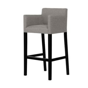 Sivohnedá barová stolička s čiernymi nohami Ted Lapidus Maison Sillage