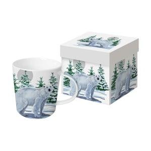 Porcelánový hrnček s vianočným motívom v darčekovom balení PPD Snow Bear, 350 ml