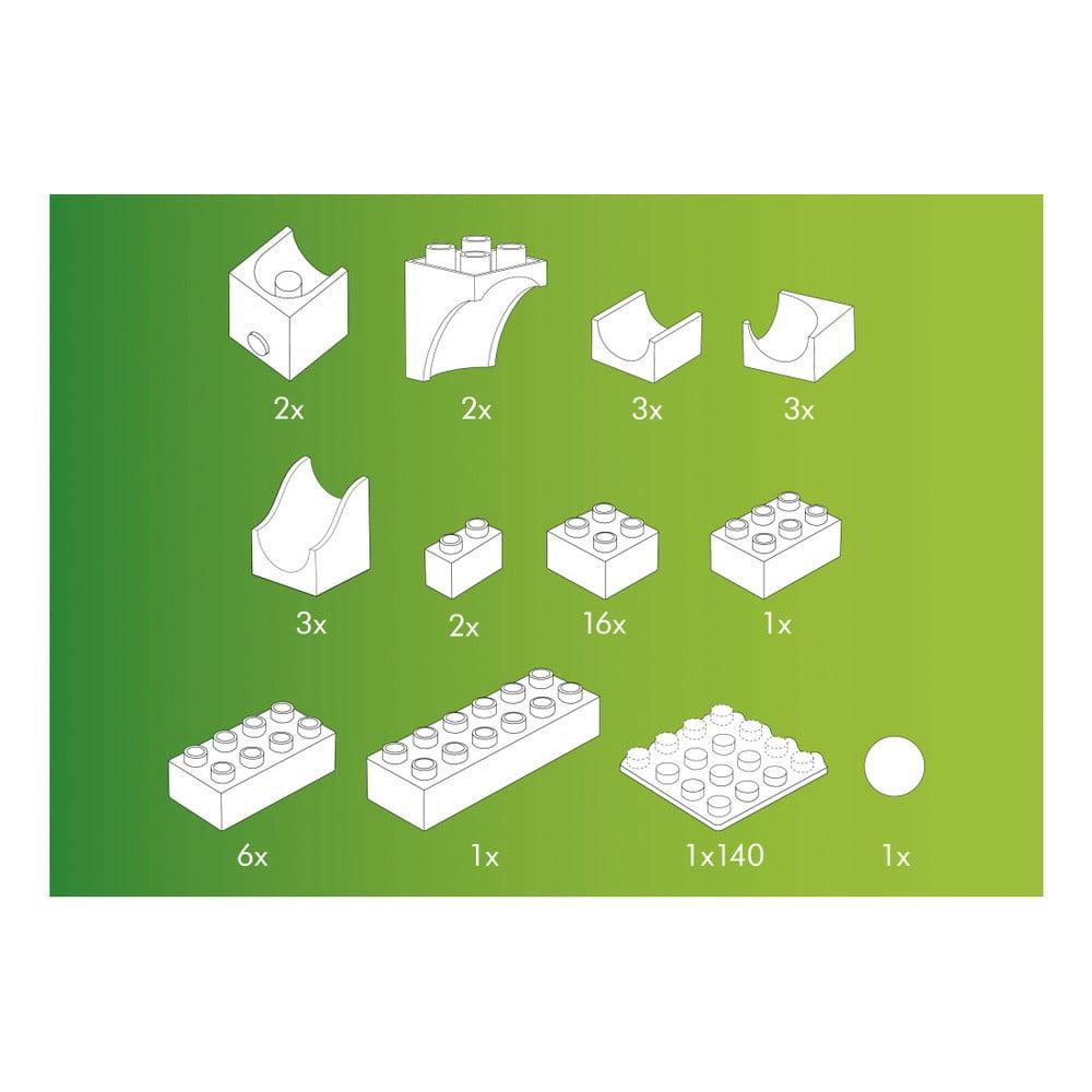 Rozšírenie s katapultom na guľôčkovú dráhu Hubelino Rozšírenie ku guľôčkovej dráhe Hubelino je ideálne pre všetkých malých milovníkov stavebníc.  Dieliky sú kompatibilné s kockami LEGO Duplo a sú vyrábané z ekologicky šetrného materiálu.