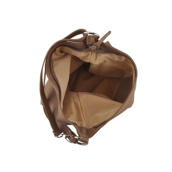 Kožená kabelka Dattero, sv. hnedá