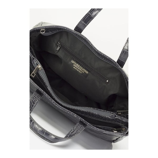 Sivá kožená kabelka Lisa Minardi Magnata