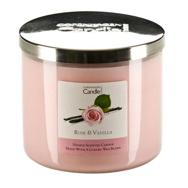 Aromatická sviečka Copenhagen Candles Rose & Vanilla, doba horenia 50hodín