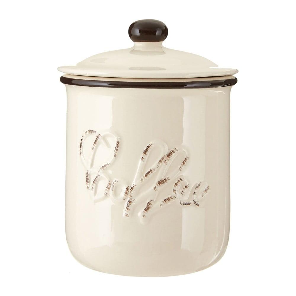 Béžová dóza z dolomitu na kávu Premier Housewares Chiltern, ⌀ 11 × 14 cm
