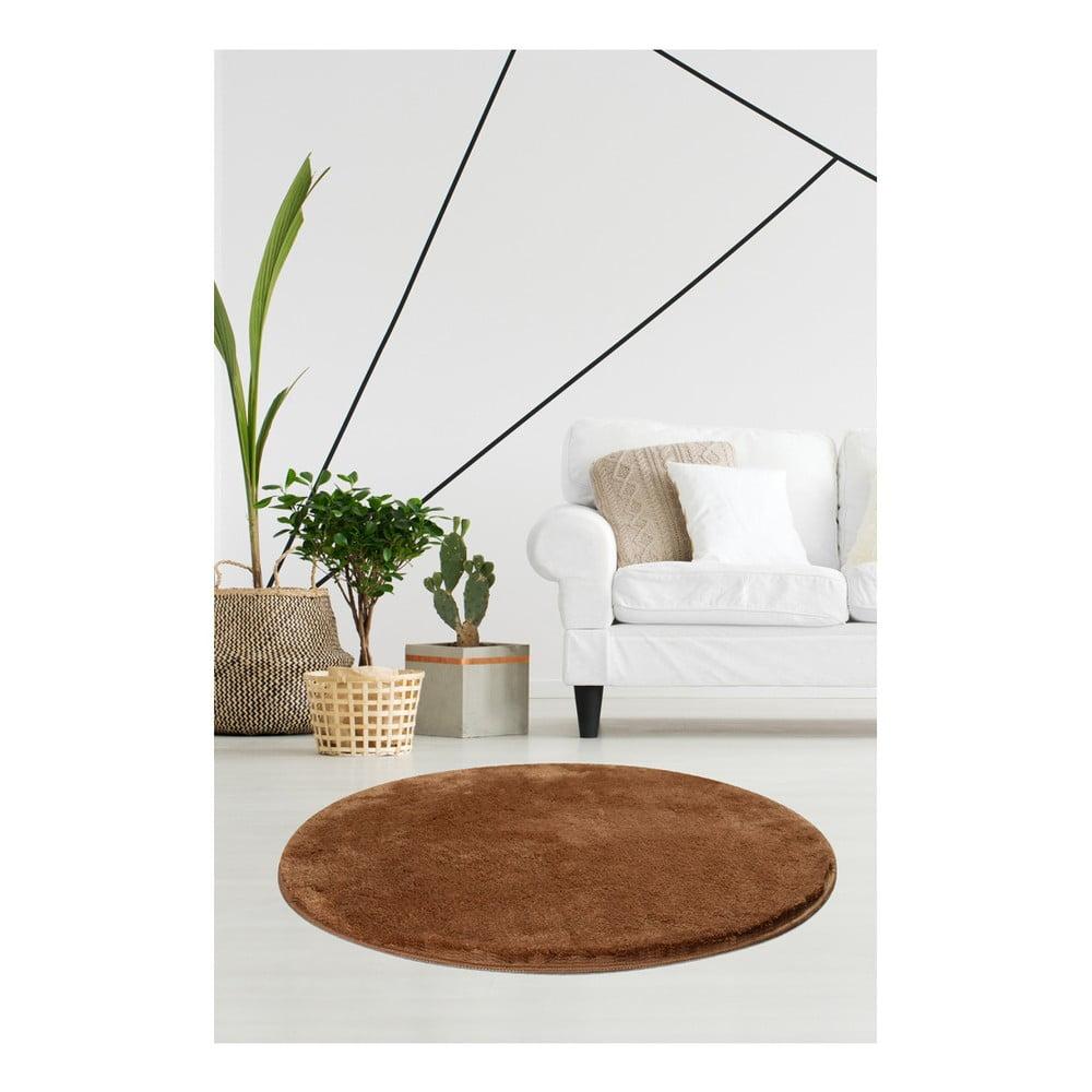 Béžový koberec Milano, ⌀ 90 cm