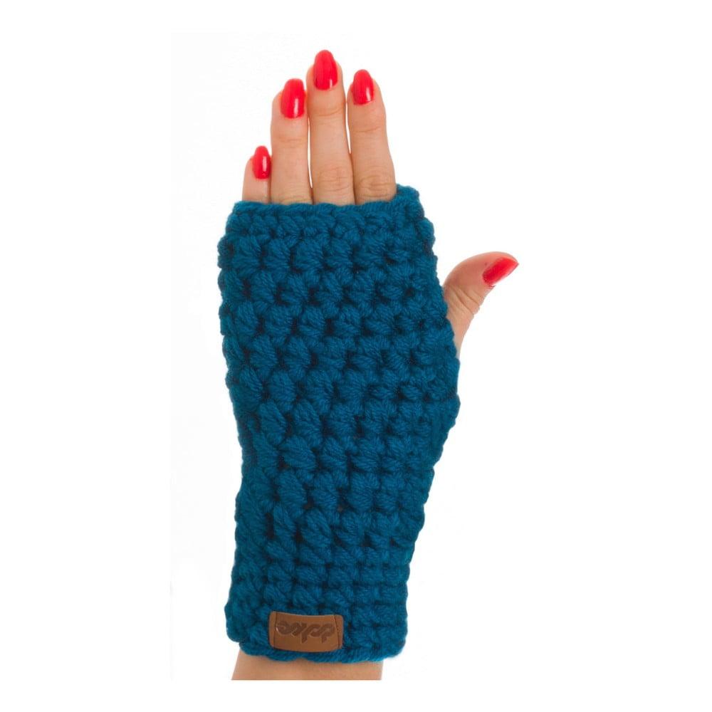 Modré ručne háčkované návleky DOKE Petrol