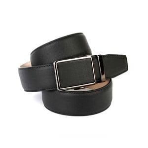 Pánsky kožený opasok 37D10 Black, 90 cm