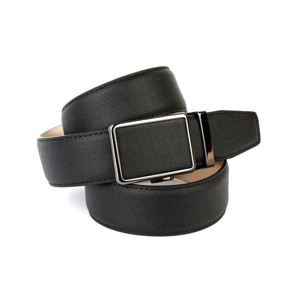 Pánský kožený pásek 37D10 Black, 120 cm