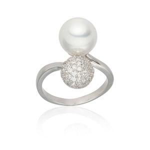 Perlový prsteň Michelle White, veľ. 52