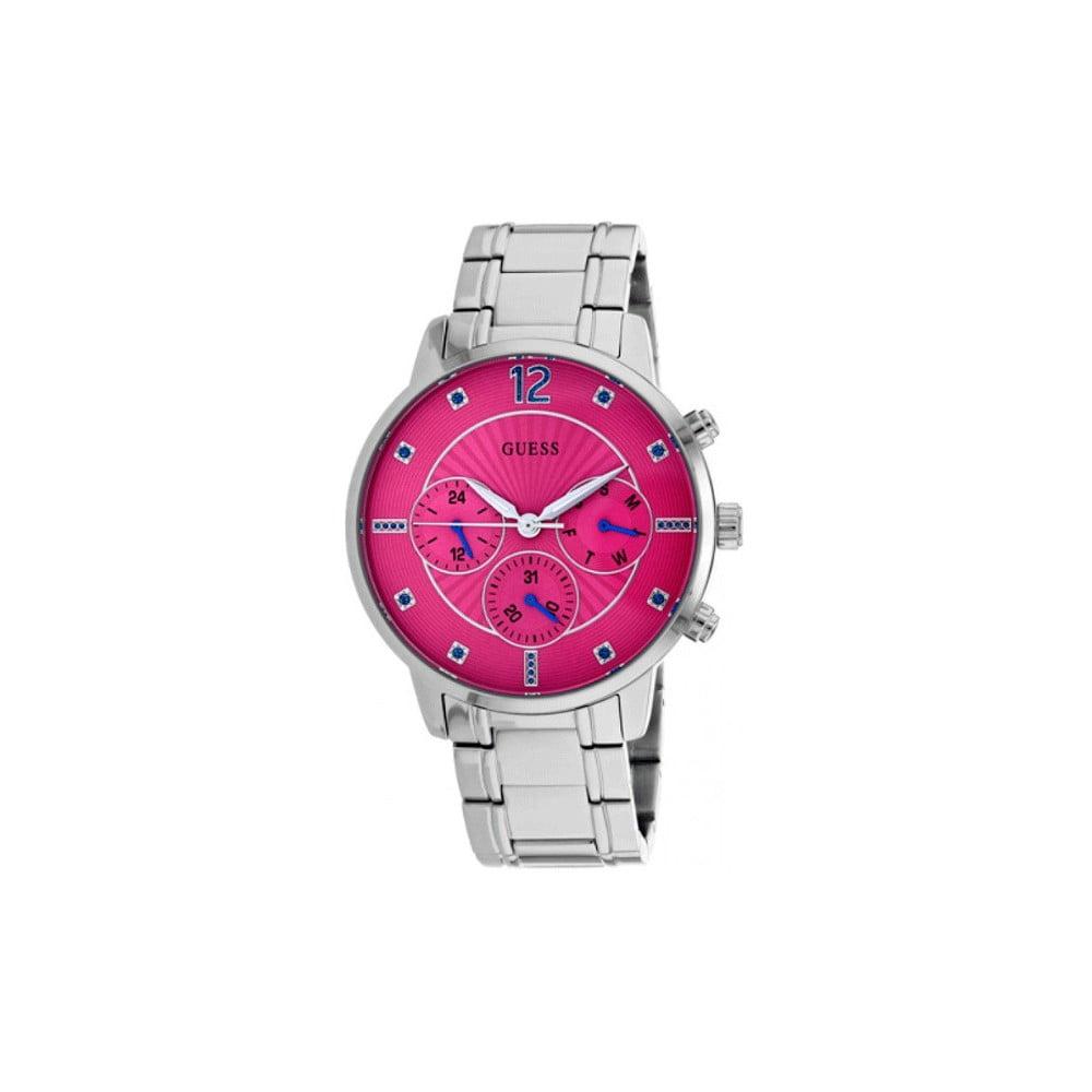 Dámske hodinky v striebornej farbe s antikoro remienkom Guess W0941L3