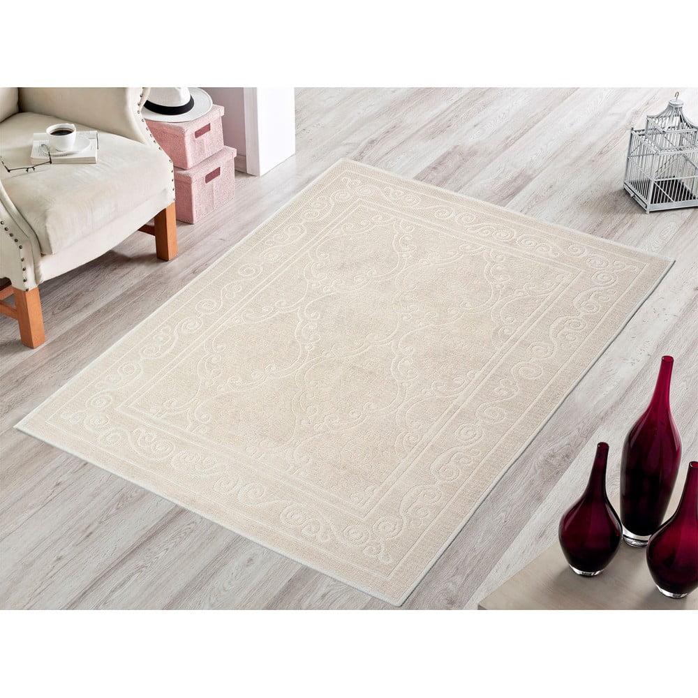 Krémový odolný koberec Vitaus Primrose, 140 × 200 cm