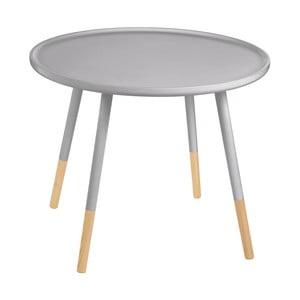 Sivý odkladací stolík Premiere Living Viborg, ⌀ 60 cm