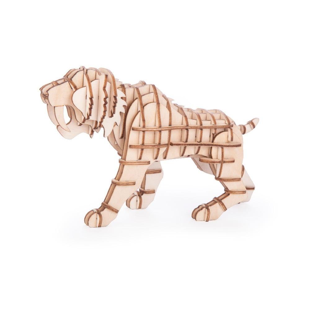 3D puzzle z balzového dreva Kikkerland Tiger