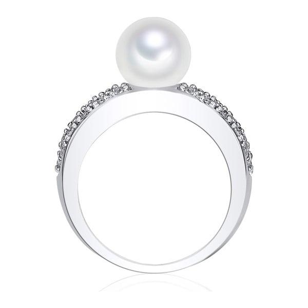 Prsteň s perlou Nova Pearls Copenhagen Elisabeth, veľ. 54