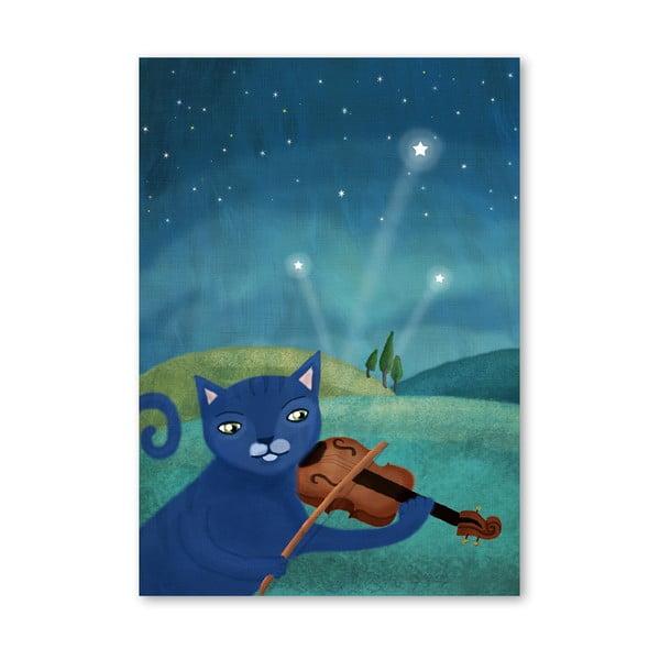 Plagát od Mia Charro - Cat and Violin