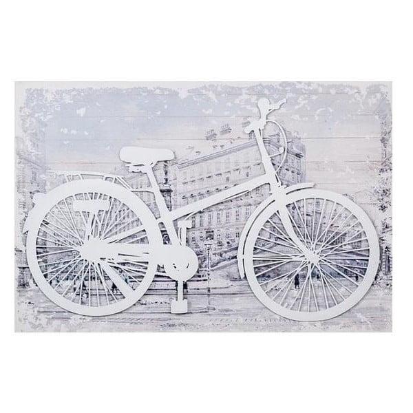 3D Obrázok White Bike, 60x40 cm