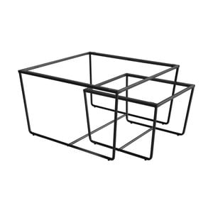Sada 2 kovových rámov v čiernej farbe k stolíku RGE Stella