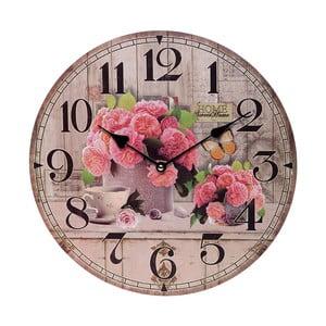 Nástenné hodiny Pink Flowers