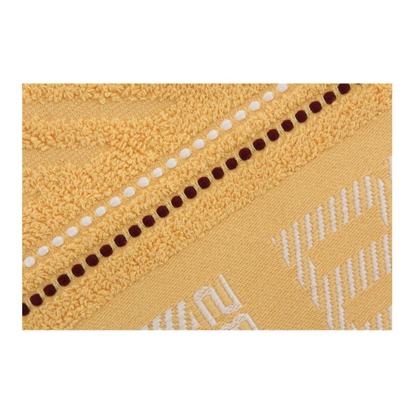 Žltý uterák Beverly Hills Polo Club Logan, 50×100cm