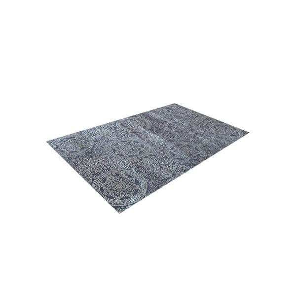 Ručne tkaný koberec Ring, 140x200 cm, sivý