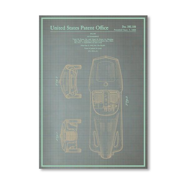 Plagát Automobile I, 30x42 cm