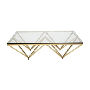 Konferenčný stolík s podnožou v zlatej farbe Kare Design Network