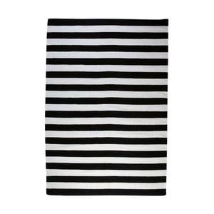 Vlnený koberec Geometry Stripes Black & White, 200x300 cm