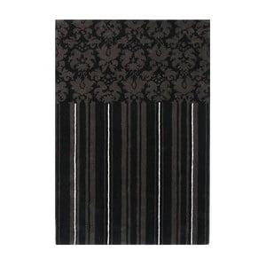 Vlnený koberec Past Black, 140x200 cm