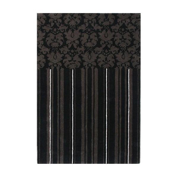 Vlnený koberec Past Black, 160x230 cm