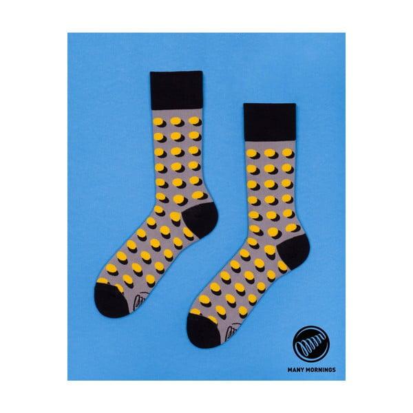 Ponožky Many Mornings Dots Shadow Yellow, veľ.39/42