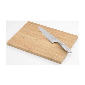 Doštička so šéfkuchárským nožom Jean Dubost Bamboo