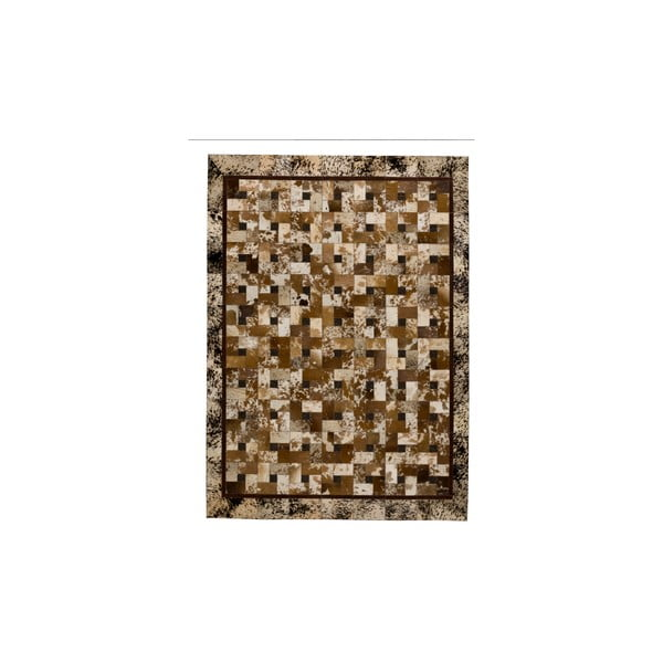 Kožený koberec Alamida Beige, 170x240 cm