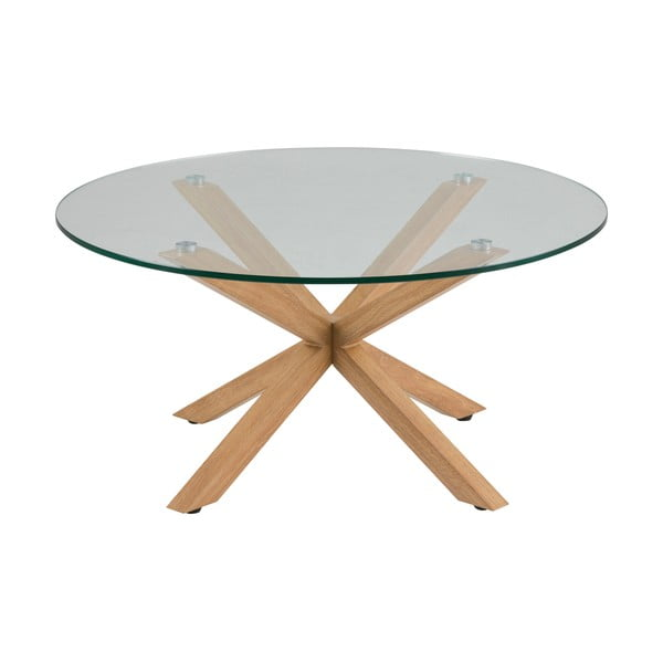 Príručný stolík so sklenenou doskou Actona Heaven, ⌀ 82 cm