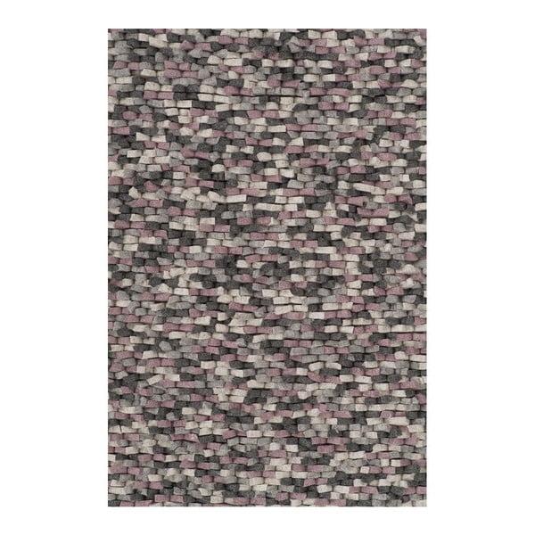 Vlnený koberec Crush Rose, 170x240 cm