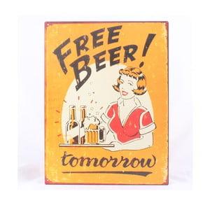 Plechová ceduľa Free Beer