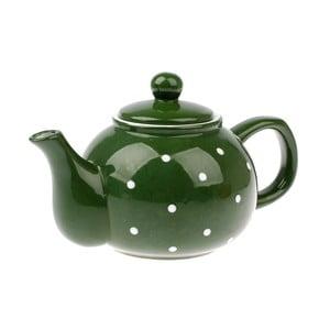 Zelená keramická kanvica Dakls Dots, 1 l