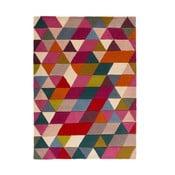 Ružový vlnený koberec Flair Rugs Prism, 80x150cm